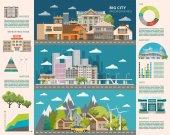 """Постер, картина, фотообои """"Концепция большого города. Набор векторных инфраструктуры"""""""