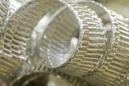 Streszczenie tło wstążki srebrne nitki