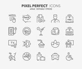 hotel thin line icons 2