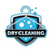 Dry cleaning logo emblem template