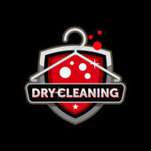 Dry cleaning logo template design