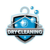 Dry cleaning logo emblem icon template design