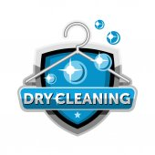 Dry cleaning logo emblem badge template