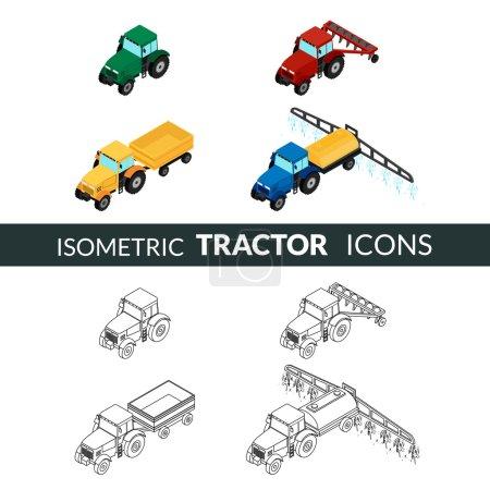 Ensemble d'icônes agricoles