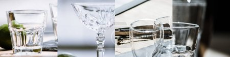 Photo pour Collage de verres vides et propres - image libre de droit