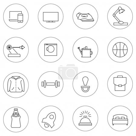 Illustration for Vector service icons in circles on white background - Royalty Free Image