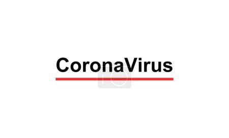 Illustration for Black coronavirus lettering on white background - Royalty Free Image