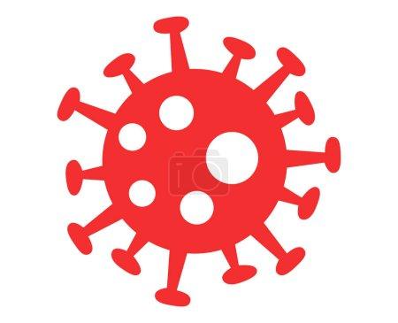 Illustration for Red virus bacteria on white background - Royalty Free Image