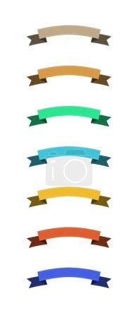 Illustration for Set of blank colorful ribbons with copy space on white background - Royalty Free Image