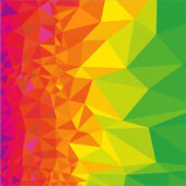 Abstract polygonal rainbow background Geometric backdrop in Origami style Beautiful vector illustration made from triangular shapes