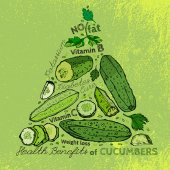 Hand Drawn Cucumber 01 A