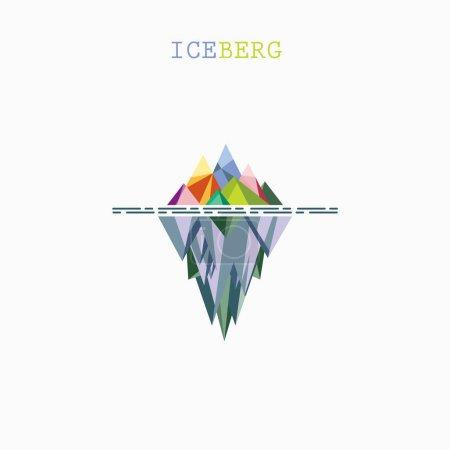 Abstract triangle iceberg vector logo design infographic templat