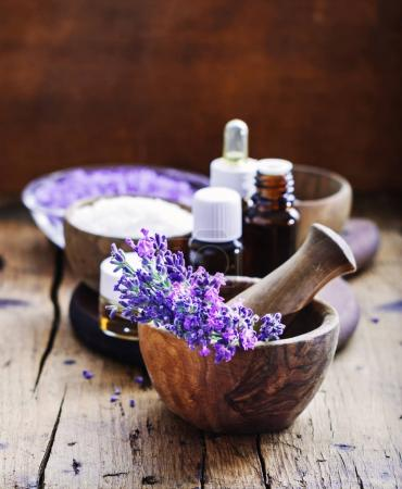 lavender flowers, essential oils