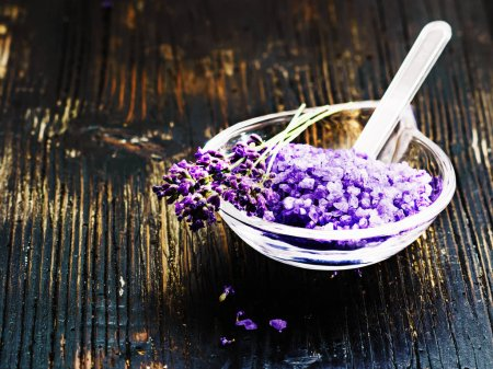 ingredients for lavender spa