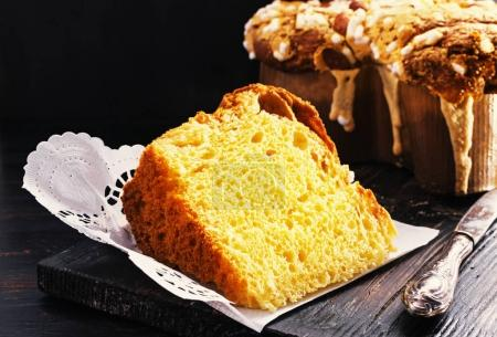 Slice of Colomba - italian easter cake