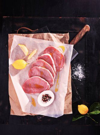 Raw fresh meat steak