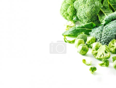 Mixed cabbage on white background