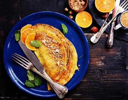 French pancakes - Crepe Suzette