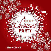Beautiful poster template for Christmas party vector illustration