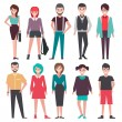 Vector illustration design of different persons ic...