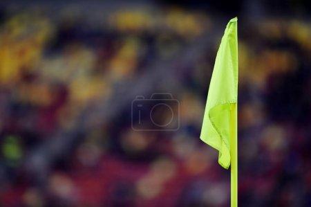 Soccer yellow corner flag