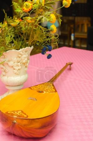Dombra traditional musical instrument of Kazahastan