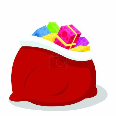Illustration pour Cadeaux de Noël - Image vectorielle de bande dessinée - image libre de droit