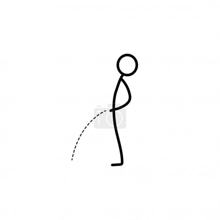Illustration for Man pissing stick figure vector - Royalty Free Image