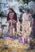 Linares -  SPAIN, April 13, 2014: Golden throne of the religious brotherhood called in Spanish