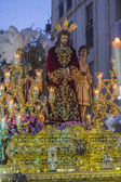 Golden throne of the religious brotherhood called in Spanish