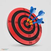 Cíl s šipky, cíl 3d ikony, vektorové ilustrace