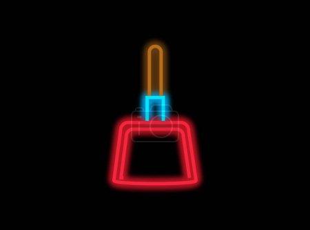 Photo pour Lumière au néon avec forme de ramassage sur fond sombre - image libre de droit