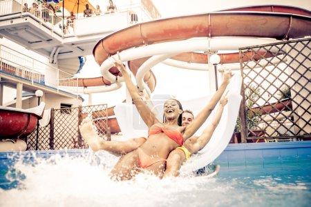 Friends having fun in swimming pool