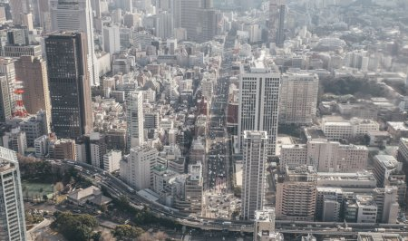 Photo for Tokyo aerial view from view point - Royalty Free Image