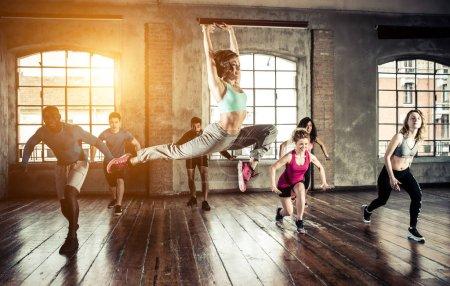 Gymnastic class training