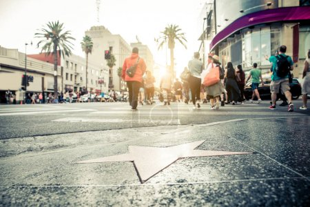 Photo for Walk of Fame at sunset on Hollywood Boulevard - Royalty Free Image