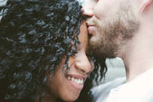 Beautiful couple kissing