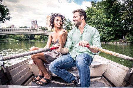 couple sur le bateau