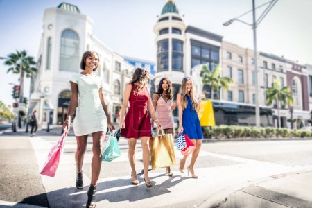 Photo for Women making shopping in Beverly hills - Royalty Free Image