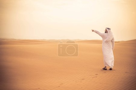 Arabian man in desert