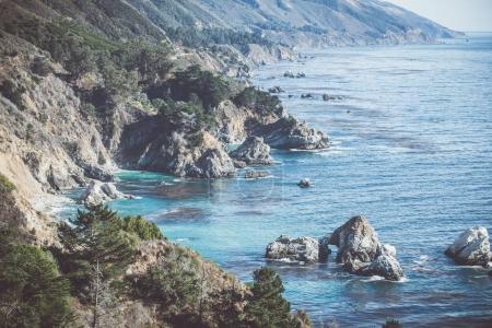 Beautiful cliffs and ocean