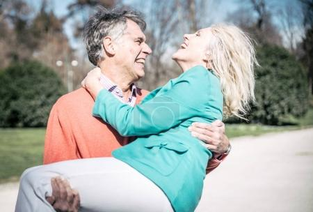 Senior happy couple