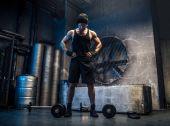 Man training in a gym