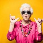 Grandmother portrait set in the studio. Concepts a...