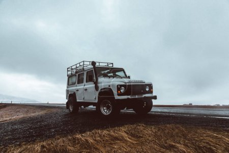 Reykjavik ICELAND, 14TH april 2018. The Land rover defender jeep