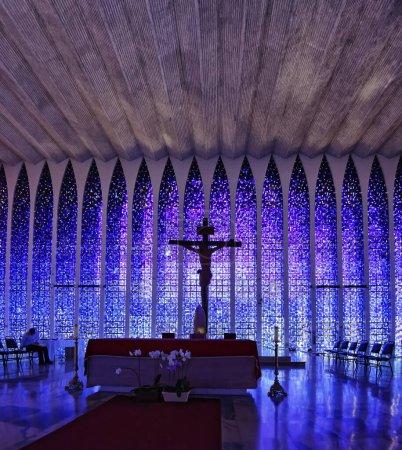 Brasilia, Brazil - Aug 27, 2018: Dom Bosco Sanctuary Interior - Brasilia, Distrito, Bewitching interior of church Dom Bosco