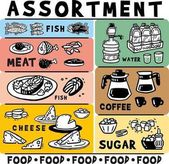 Picture Food and drink assortment Large set of simple images