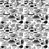 Picture Large seamless pattern food and drink