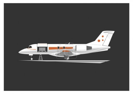 Cargo aircraft isolated on background