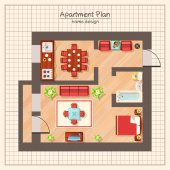 Wohnung Plan Illustration